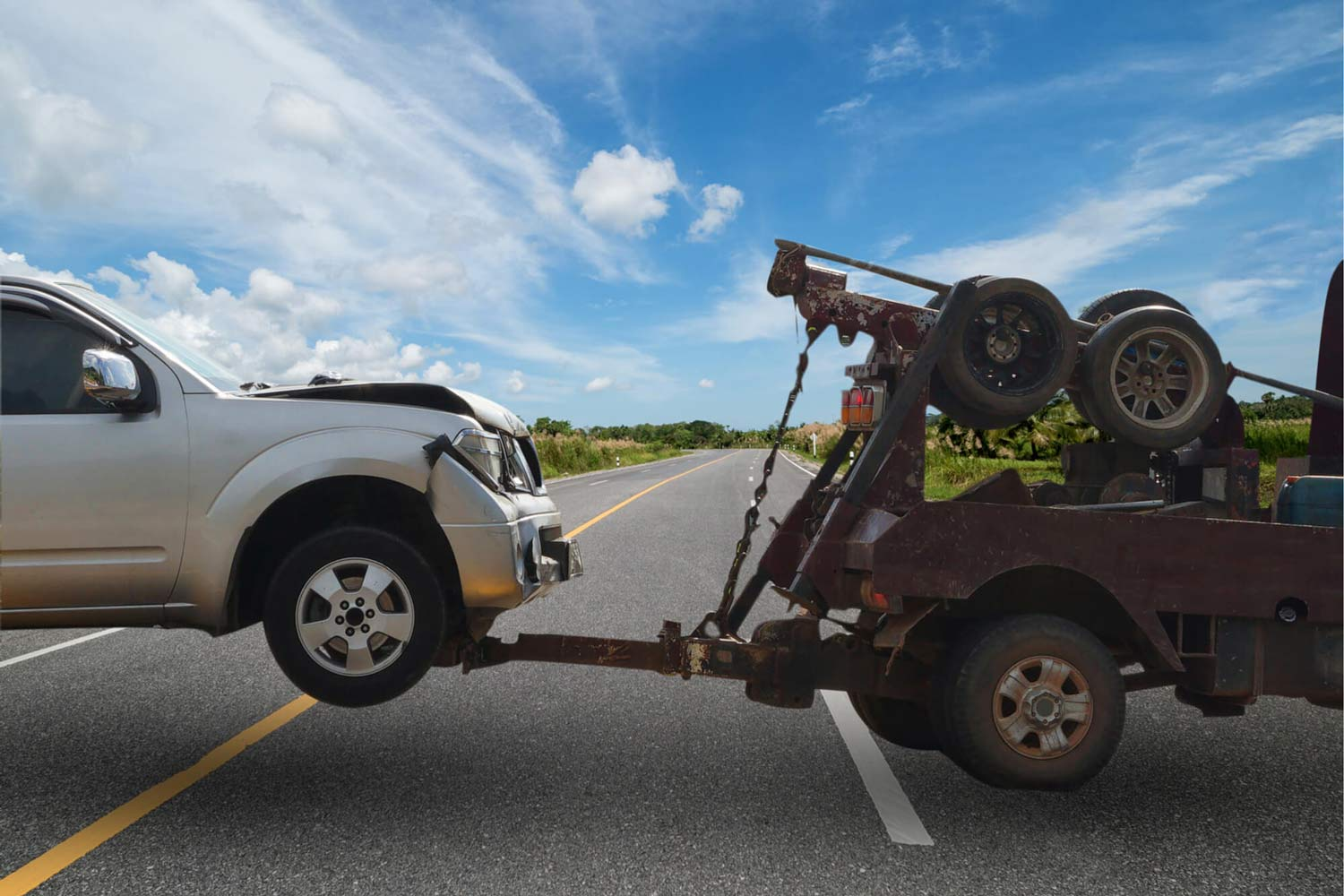 Car damaged in accident by driver without auto insurance represented by Ward & Barnes, P.A., Attorneys at Law