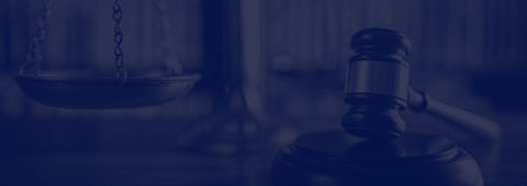 Background image of gavel and scales for Criminal Defense button