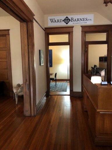 The lobby of Ward & Barnes