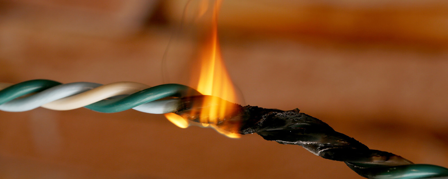 Electrical wires catch fire due to product defects, injuring client represented by Ward & Barnes, P.A., Attorneys at Law