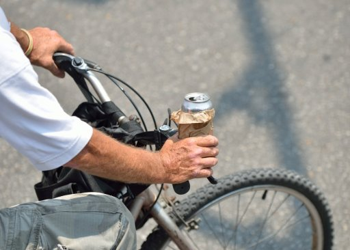 drinking while bicycling